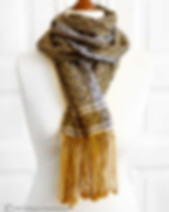 Helllo Sailor - Hand-woven scarf made with organi cotton and linen