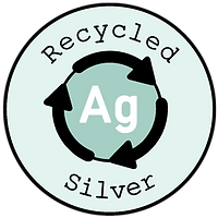 Recycled silver badge