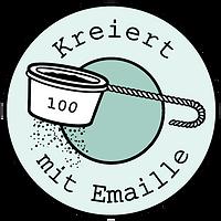 Kreiert mit emaille logo