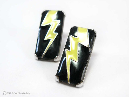 Lightening Strikes » Enamel Earrings