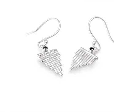 Reverie » Sterling Silver and Black Spinel Dangle Earrings