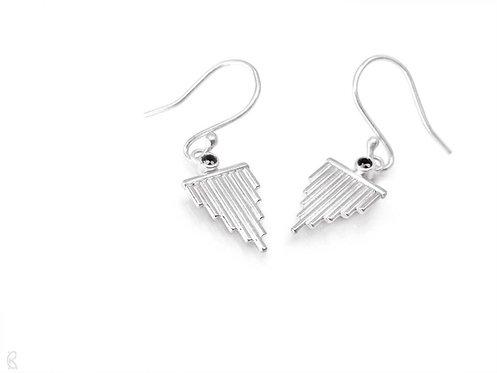 Reverie » Sterling-Silber und schwarzer Spinell Ohrringe