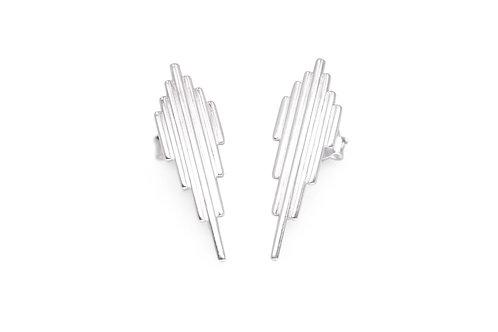 Minimalist recycled sterling silver stud earrings