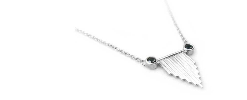 Handmade minimalist recycled sterling si
