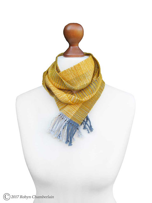 Mix of Sun and Cloud » Organic Handwoven Scarf