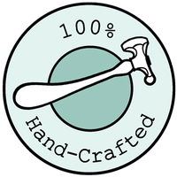100% hand-crafted badge