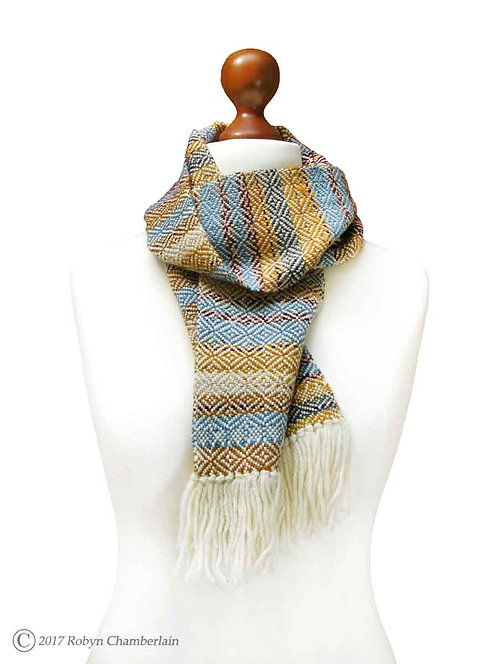 Diverse Points Hand Woven Scarf