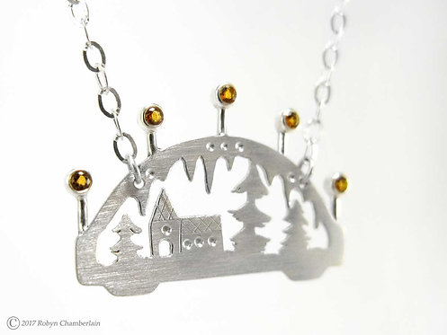 Light in the Darkness » Silver and Citrine Necklace