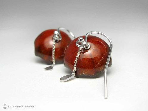 Dusk Downpour » Enamel Umbrella Earrings