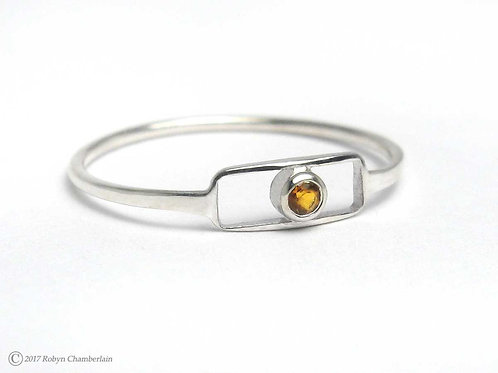 Eingehüllter Citrin » Sterling-Silber und Citrin Ring