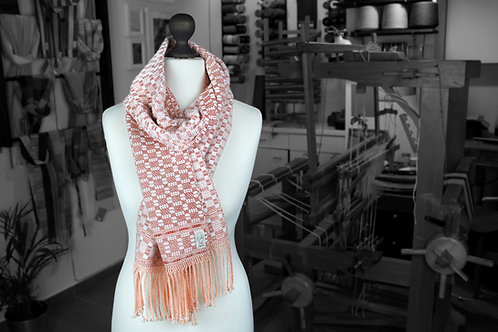 Peaches and Cream » Handwoven Scarf