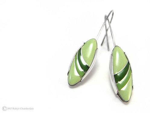 Lichen Arc » Enamel Earrings
