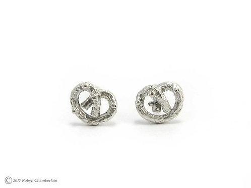 Extra Petite Pretzel » Silver Earrings