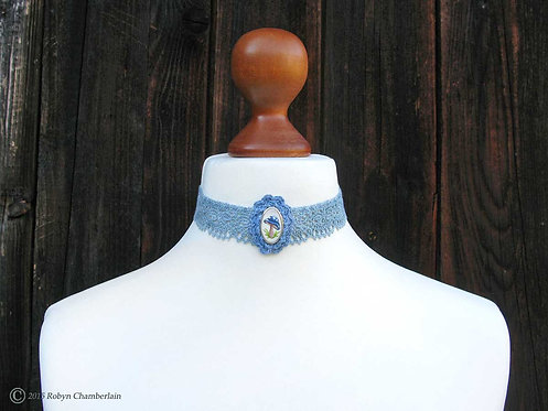 Fashionable Fungi » Silver and Linen Collar