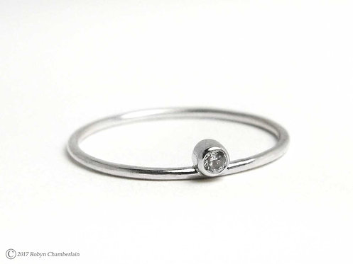Stable Equilibrium » Silver and Cubic Zirconia Ring