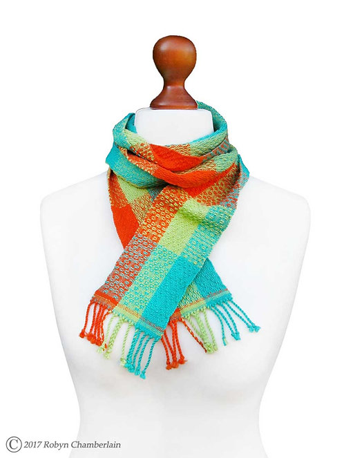 Tropical Punch » Organic Handwoven Scarf