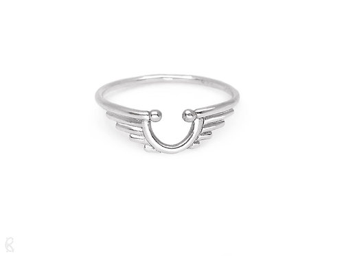 Guardian - Minimalist recycled sterling silver handmade ring