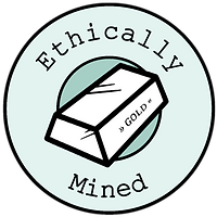 Ethically mined gold badge
