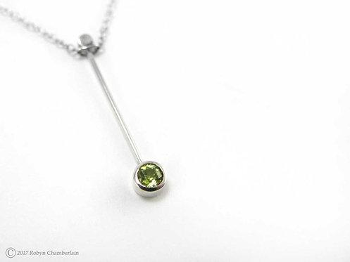 Peridot Receiver » Sterling-Silber und Peridot Halskette