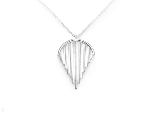 Triumph - Minimalist recycled sterling silver handmade necklace