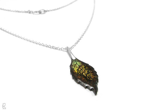 Autumn Ash » Silver and Enamel Necklace