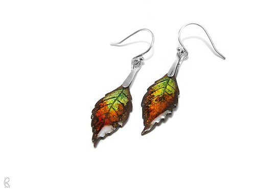 Autumn Ash » Silver and Enamel Earrings