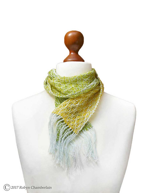 Spring Bouquet Hand Woven Scarf