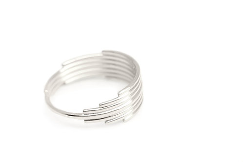 Minimalist recycled sterling silver ring