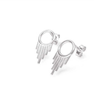 Token » Sterling Silver Stud Earrings