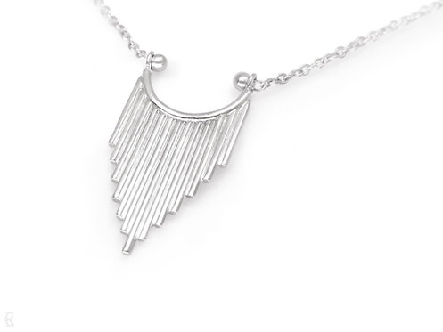 Guardian - Minimalist recycled sterling silver handmade necklace