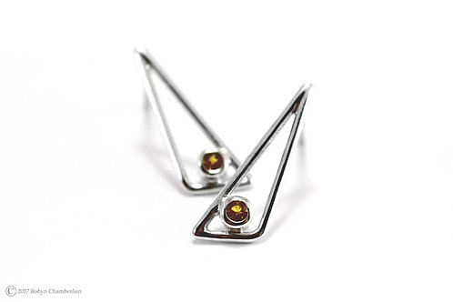 Tradition » Silver and Citrine Earrings