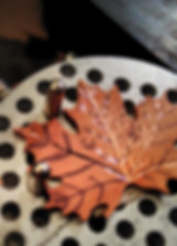 Jewellery design process - copper leave getting deas