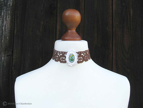 Divine Dandelion » Silver and Linen Collar