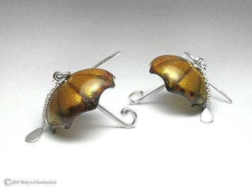 Splashing in the Mud » Enamel Umbrella Earrings