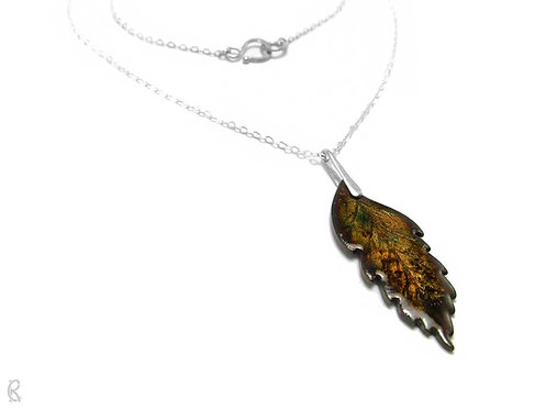 Autumn Rowan » Silver and Enamel Necklace