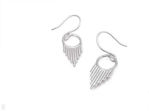 Minimalist recycled sterling silver earrings