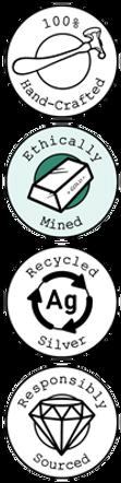 Ethical jewellery badges - Fairtrade Gol