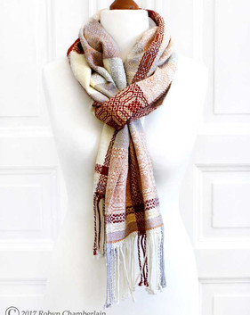 Frosty - Hand-woven scarf made with organic cotton and linen