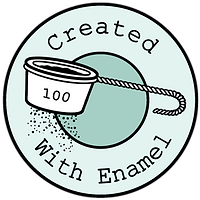Created with enamel badge