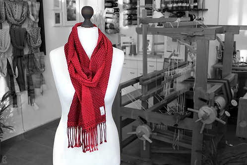 Strawberry Fields » Organic Handwoven Scarf (with fringes)