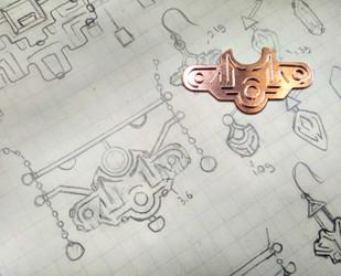 Jewellery process- designing a enamel necklace