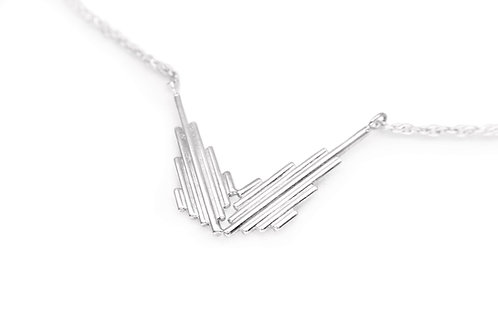 Minimalist recycled sterling silver necklace