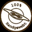 100% Handgewebt Badge