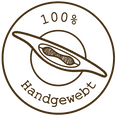 100% Handgewebt Badge
