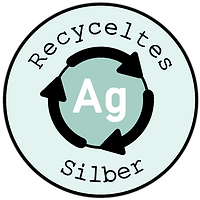 Recyceltes silber logo