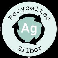 Recyceltes silber logo
