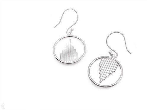 Oracle - Minimalist recycled sterling silver dangle earrings