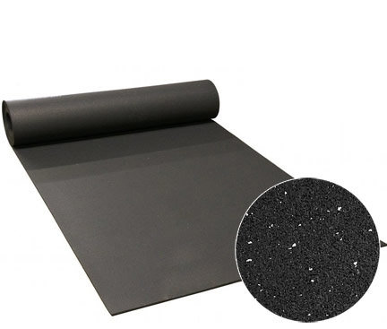 """1/4"""" speckled rubber flooring ($2.00/sq ft.)"""
