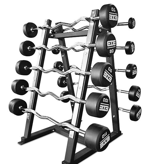 Solid urethane barbell set (20-110lbs)+ rack