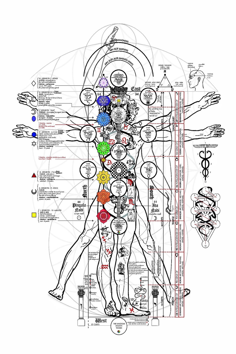 Map of the esoteric body